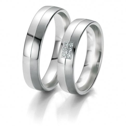 Eleganckie i stylowe obrączki ślubne z kolekcji BLACK&WHITE z lśniącymi brylantami