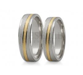 Ponadczasowe obrączki ślubne - dwa kolory złota i delikatna linia