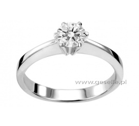 Brylant 0,50 ct i białe złoto próby 585, czyli klasyczny pierścionek zaręczynowy