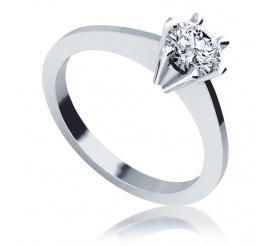 Brylant 0.50 ct i białe złoto próby 585, czyli klasyczny pierścionek zaręczynowy
