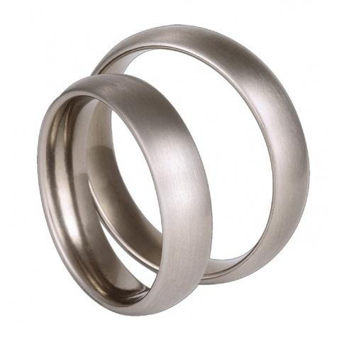 Minimalistyczne obrączki ślubne z tytanu - klasyczny wzór