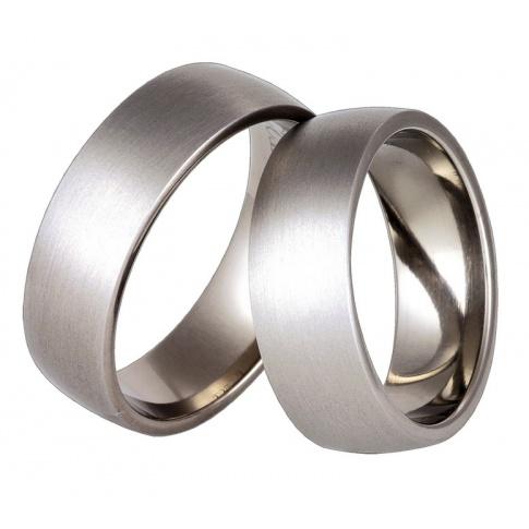 Klasyczne obrączki ślubne z antyalergicznego tytanu