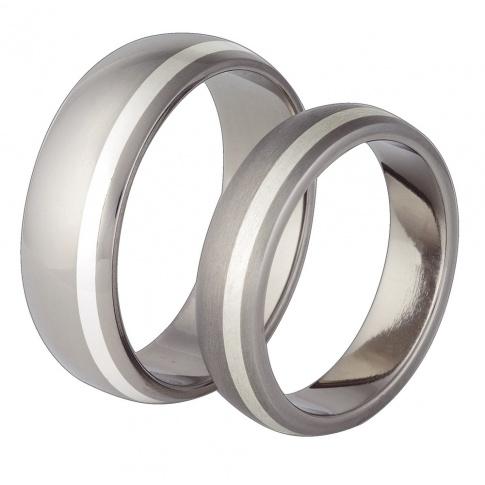 Nowoczesne obrączki ślubne - duet tytanowej szarości i blasku prawdziwego srebra