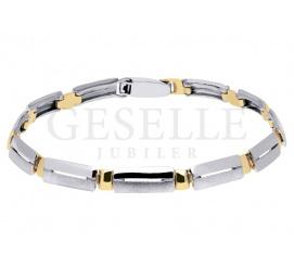 Elegancka i szykowna bransoletka z żółtego i białego złota próby 585 - pomysł na stylowy prezent