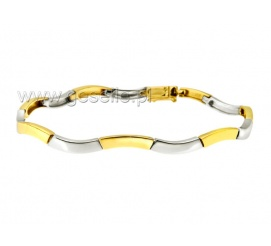 Elegancka bransoletka z białego i żółtego złota 14K idealna na prezent.