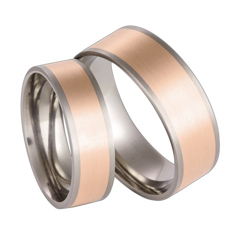 Dwukolorowe obrączki ślubne z niezwykle lekkiego tytanu i złota