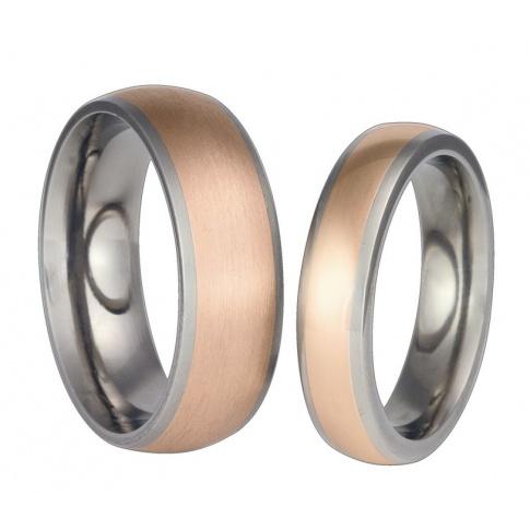 Dwukolorowe obrączki ślubne z lekkiego tytanu i złota