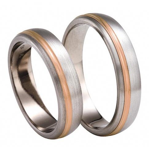 Czerwone złoto i tytan - obrączki ślubne z niebanalnego połączenia dwóch kruszców
