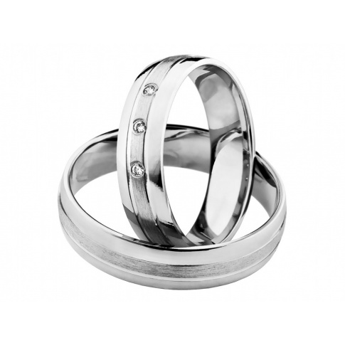 Delikatne i subtelne złote obrączki ślubne z trzema kamieniami - romantyczny styl i niezwykłe piękno
