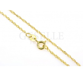 Singapur - złoty łańcuszek, długość 45 cm