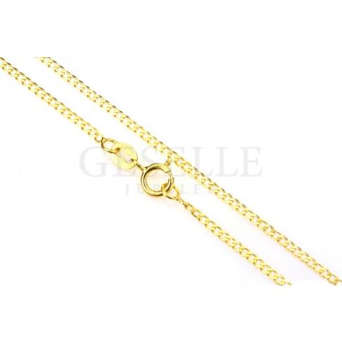 Elegancki łańcuszek pancerka z żółtego złota o długości 45 cm