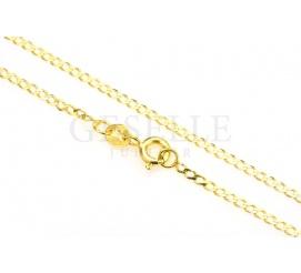 Popularny łańcuszek o klasycznym splocie pancerka z żółtego złota - długość 45 cm