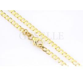 Elegancki i popularny łańcuszek z żółtego złota o splocie pancerka i długości 50 cm