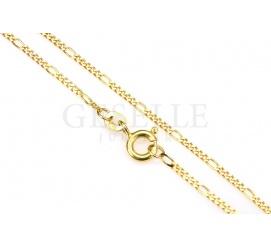 Oryginalny łańcuszek z żółtego złota próby 585 o długości 45 cm