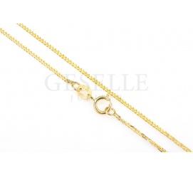 Dodatek do zawieszek - łańcuszek z żółtego złota - lisi ogon, długość 45 cm