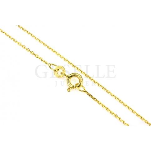 Uniwersalny i ponadczasowy łańcuszek ankier z żółtego złota o długości 45 cm