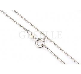 Elegancki łańcuszek z białego złota o splocie ankier, długość 45 cm