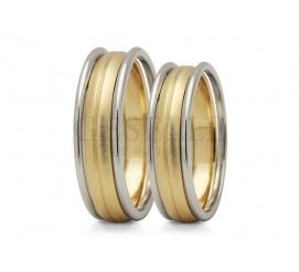 Nowoczesny komplet wielobarwnych obrączek ślubnych z wspaniałymi pierścieniami