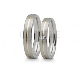 Niezwykłe dwukolorowe obrączki ślubne z białego i żółtego złota