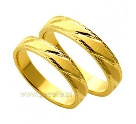 Eleganckie obrączki ślubne z 14-karatowego żółtego kruszcu z kolekcji  Forever