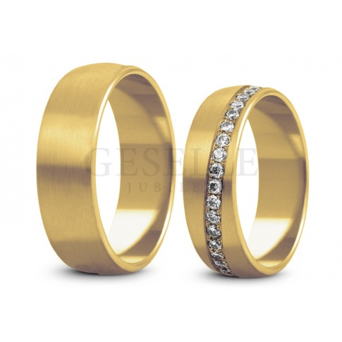 Masywne obrączki ślubne z żółtego złota firmy Stelmach