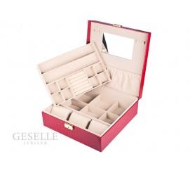 Porządek w biżuterii, czyli czerwona szkatułka z lusterkiem i przegródkami