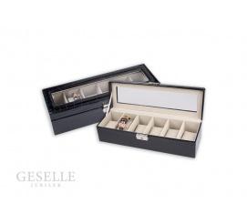 Ciekawe pudełeczko na zegarki lub bransoletki z szybką