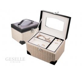 Ciekawa szkatułka na kobiece skarby z lusterkiem