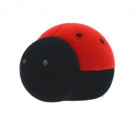 Słodka biedronka - oryginalne pudełeczko na biżuterię, czerwono-czarna biedronka