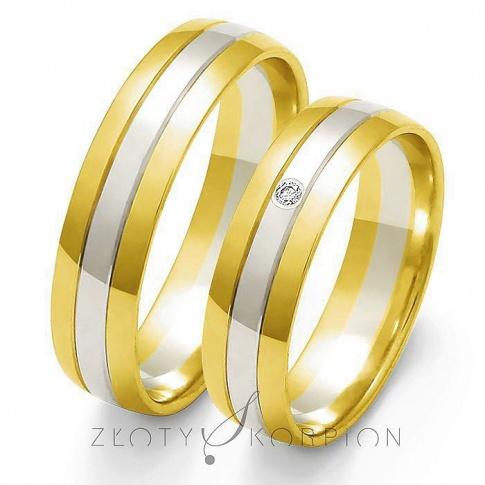 Tradycyjne obrączki ślubne z dwukolorowego złota