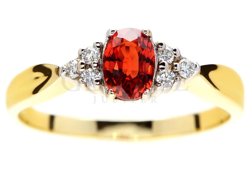 Bardzo Złoty Pierścionek Z Czerwonym Kamieniem Zhl69 Usafrica