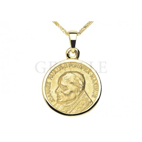 60df0ed3623e6f Wyjątkowy, złoty medalik z Papieżem Janem Pawłem II - pomysł na prezent z  okazji bierzmowania, święceń kapłańskich lub zakonnych - GRAWER W PREZENCIE  ...