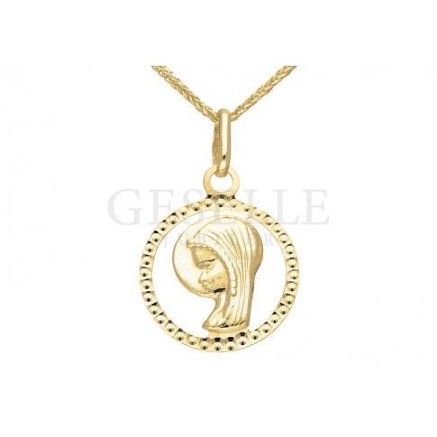 Piękny, złoty medalik z Matką Boską - niezwykły prezent na Chrzest lub Komunię Świętą