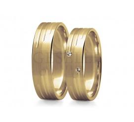 Romantyczne obrączki ślubne z klasycznego, 14-karatowego kruszcu z cyrkoniami lub brylantami do wyboru