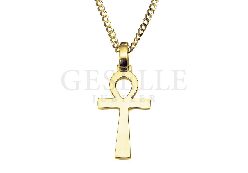 Anch Ankh Krzyż Egipski Ze Złota Próby 585 Hieroglif Oznaczający życie Biżuteria Na Prezent Geselle Jubiler