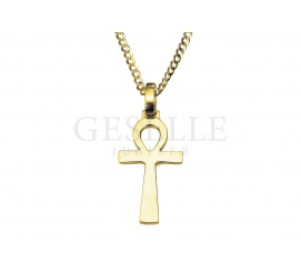 Anch (ankh) - krzyż egipski ze złota próby 585, hieroglif oznaczający życie
