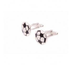 Spinki męskie ze stali szlachetnej w kształcie piłek footballowych - pomysł na prezent dla piłkarza!