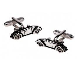 Śmieszny pomysł na prezent dla chłopaka - spinki do mankietów w kształcie kabrioletów ze stali szlachetnej!