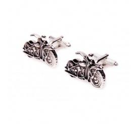 Oryginalne spinki do mankietów ze stali szlachetnej w kształcie motocykli harley pomysł na prezent dla pasjonatów jazdy motocyklem!