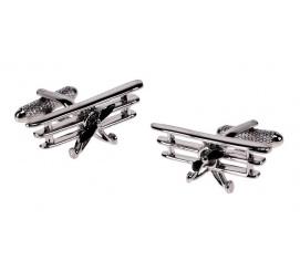 Niebanalny pomysł na prezent dla mężczyzny sportowca lotnika spinki do mankietów w kształcie samolotów 3 płatowych!