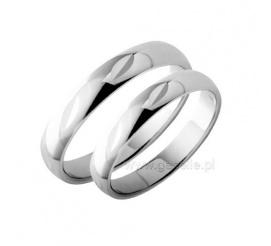 Wyjatkowe obrączki ślubne z białego złota z geometrycznym wzorem
