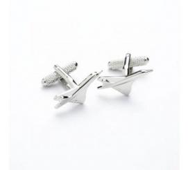 Spinki do mankietów w kształcie samolotów na prezent dla fanów podróżowania ze stali szlachetnej dla mężczyzny chłopaka!
