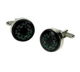 Spinki do mankietów w kształcie kompasów dla podróżnika globtrotera dla mężczyzny chłopaka na prezent!