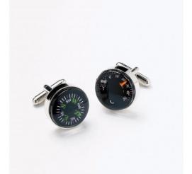 Oryginalne spinki do mankietów dla chłopaka mężczyzny w kształcie kompasu i termometru idealne na prezent!