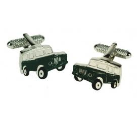 Zabawne spinki do mankietów w kształcie samochodu jeep idealne na prezent dla miłośnika jazdy terenowej