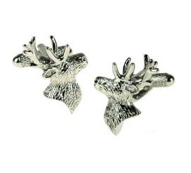 Dla myśliwych! - oryginalne spinki ze stali szlachetnej w kształcie poroża jelenia - pomysł na prezent