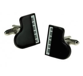 Niebanalne spinki do mankietów w kształcie fortepianu idelane na przezent dla melomanów!