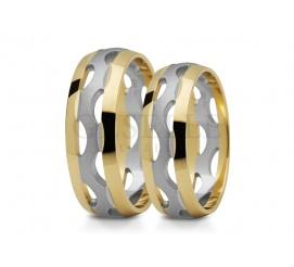 Niebanalne, ażurowe obrączki ślubne z złota