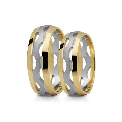 Niebanalne, ażurowe obrączki ślubne z 14-karatowego złota