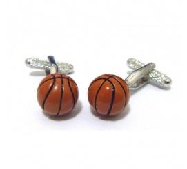 Niebanalne spinki męskie do mankietów w kształcie piłki do gry w koszykówkę- pomysł na oryginalny prezent dla sportowca!